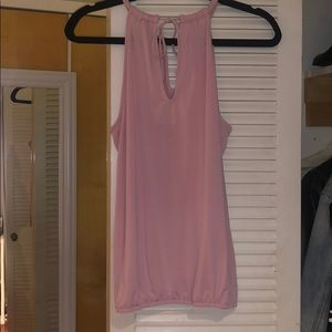 Tie neck Pink tank top